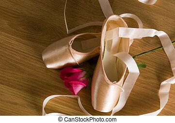 balé, sapatos, rosÈ