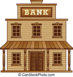 Wild West Bank building for game level