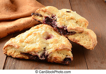 Chocolate cherry turnovers - Gourmet chocolate cherry...