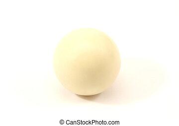 Billiard Cue Ball - Billiard cue ball , isolated on a white...