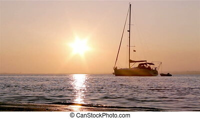 Ria Formosa- Sunset Boat Silhouette - Sunset & boat...