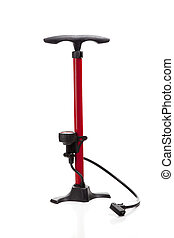 Bicycle Air Pump - A bicycle or sports equipment air pump on...