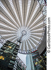 roof at Sony Center, Potsdamer Platz, Berlin, Germany