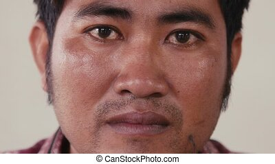 Young Asian man portrait, feelings - Portrait of real Asian...