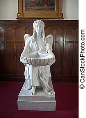 angel with the baptismal font
