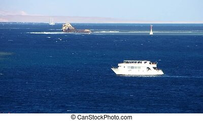 Motor yacht at Red sea
