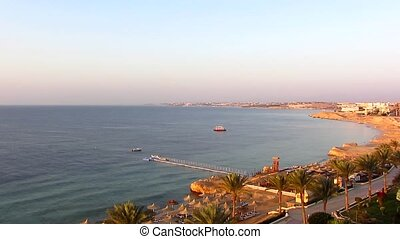 Sea in Egypt at sunrise