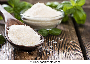 Grated Parmesan Cheese - Portion of grated Parmesan Cheese...