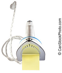 Flatiron - Label inflatiron, isolated on a white background