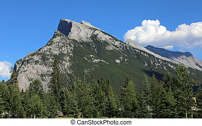 Glorious Mount Rundle - Mount Rundle towering over the Banff...