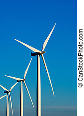 Modern wind turbines or mills providing energy - Modern...