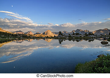 Mountain Lake Reflection - evening reflection of the Hermit...