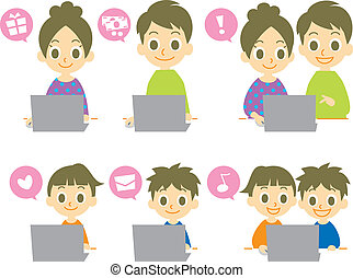 computer family, vector file