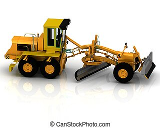 Tractor with hydraulic shovel