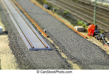 rails - assembly of rails on a recently constructed...