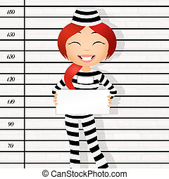 prisoner identikit - illustration of prisoner identikit
