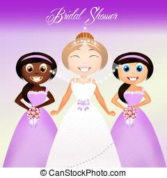 Bridal shower - illustration of Bridal shower