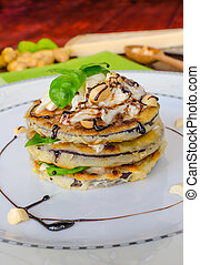 Grilled eggplant with feta cheese,parmesan basil, nuts -...