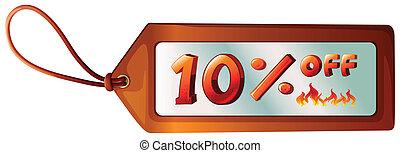 A ten percent discount tag