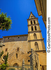 Sant Bartomeu Church in the town of Soller on Mallorca