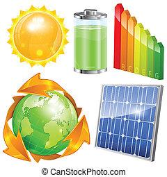 エネルギー, セット, 緑