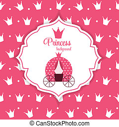 Princess Crown Background Vector Illustration