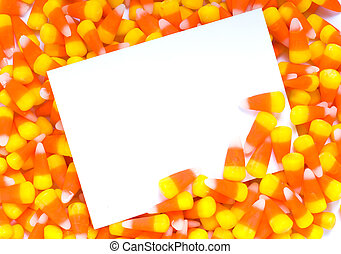 Candy Corn Notecard - A blank notecard, invitation, or...