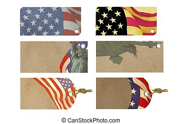 American Celebration Sale Tag Flag Day, Labor Day, 4th of...