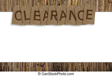 Clearance Background with Solid White Copy Space Clearance...