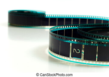 Hollywood Film - Hollywood 35mm film strip on white...