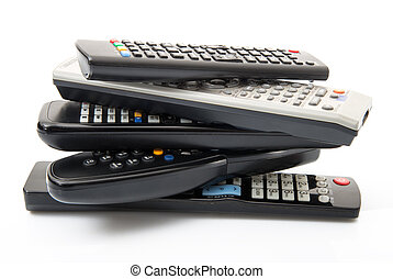 tv remote controls - some remote controls tv in white...