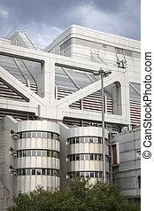 detail of the international congress center berlin, icc