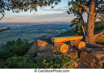 Colorado View Point Bench Place Mount Falcon Vista Point...