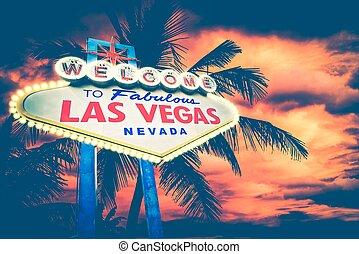 Las Vegas Concept with Famous Las Vegas Boulevard Entrance...