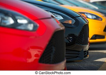 Colorful Car Dealer Stock - Colorful Car Dealer Car Stock....