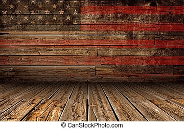 Wooden American Stage - Wooden American Vintage Stage...