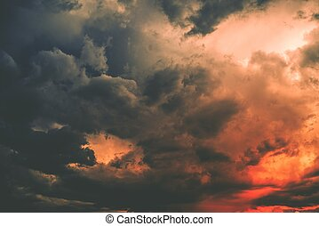 Dark Storm Cloud - Reddish Dark Storm Cloud. Stormy Weather...
