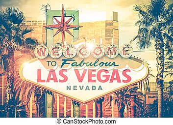 Vintage Las Vegas Photo. Las Vegas Boulevard Entrance Sign....