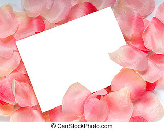 Rose Petal Notecard - Rose petal notecard for use at...