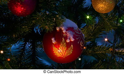 Christmas decorations on the Christmas tree