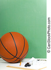 Basketball background - Items used by a basketball coach...