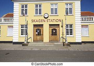 Skagen Denmark - Old central station - The old Central...