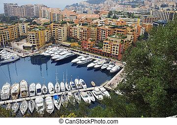Port de Fontvieille, Monaco - luxury yachts and elite...