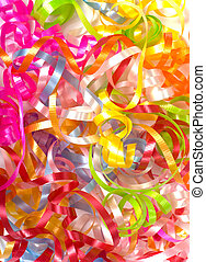 curly ribbon background - A background consisting of pastel...
