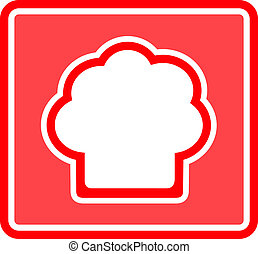 chef hat icon - chef hat red icon - table napkin design for...