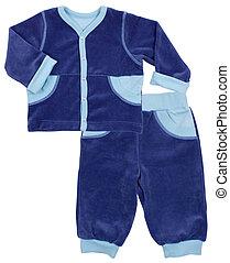 Child suit set isolated on white background - Child suit set...