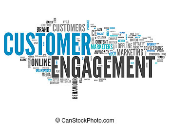 Word Cloud Customer Engagement - Word Cloud with Customer...