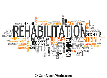 Word Cloud Rehabilitation - Word Cloud with Rehabilitation...