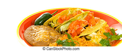 Mexican Cuisine - A plate of sterotypical Mexican food...