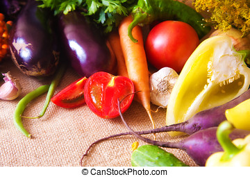 Fresh vegetables on the table